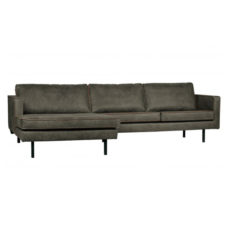 BePureHome Rodeo bank met chaise longue links - Army