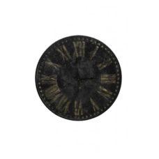 Klok 80x3,5cm Antiek zwart