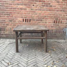 Vierkante salontafel donker 70x70x50cm