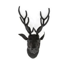 Ornament Deer Head Mystique - Zwart