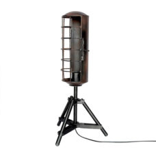 Staande ijzeren tafellamp 65cm