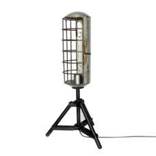 Staande ijzeren tafellamp grijs 65cm