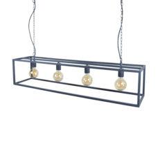 Hanglamp Frame 4-lichts 120cm Zwart