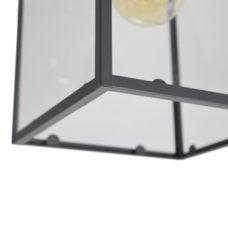 Plafondlamp Sky glas 21x21x27cm Zwart