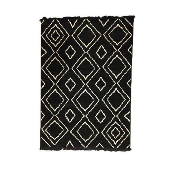 Vloerkleed Groove 160x230 cm - black