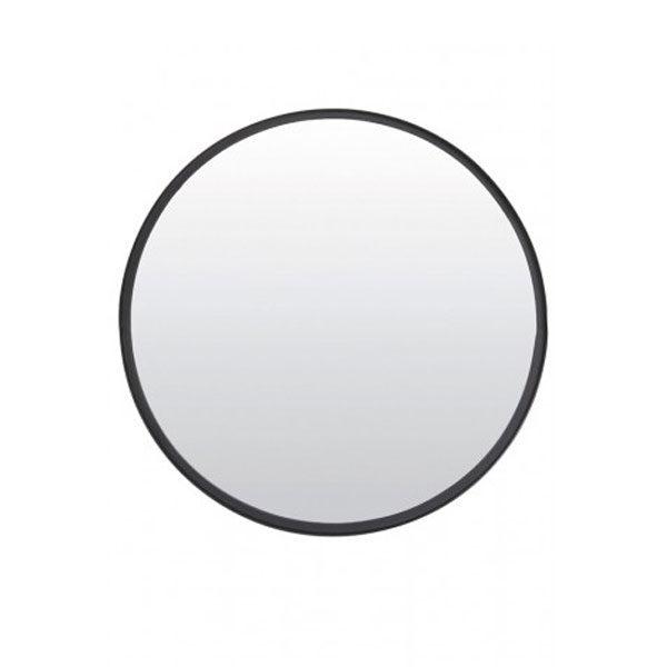 Spiegel Rond 60x4,5cm Mat Zwart