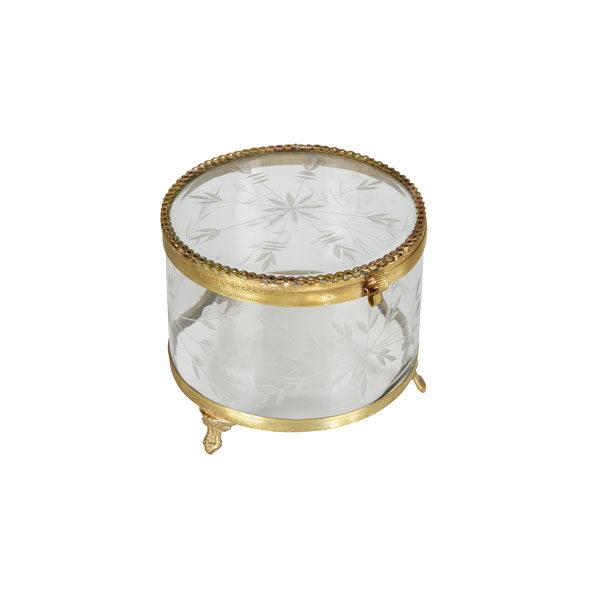 BePureHome Jewels sieradenbox metaal/glas Brass