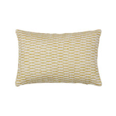 BePureHome Pattern sierkussen ivoor/mosterd 40x60cm