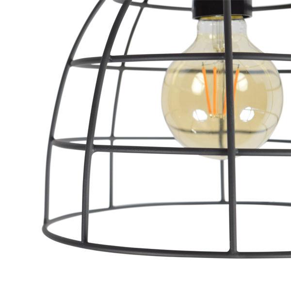 Plafondlamp Francis Large 24x32 Zwart