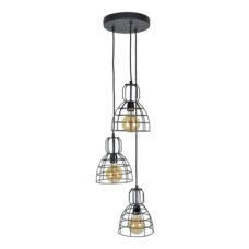 Hanglamp Francis 3-lichts 20x28 Vintage black