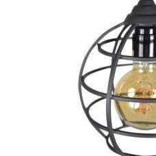 Hanglamp Globe 1-lichts 19 Vintage black
