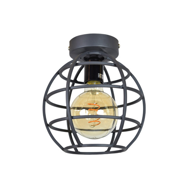Plafondlamp Globe small 19x24 Vintage black