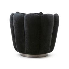 Fauteuil Maria - Zwarte velvet