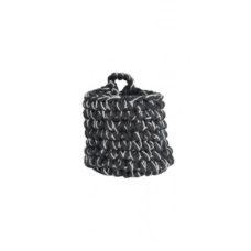 Mand 15x15cm ABARI grijs zwart