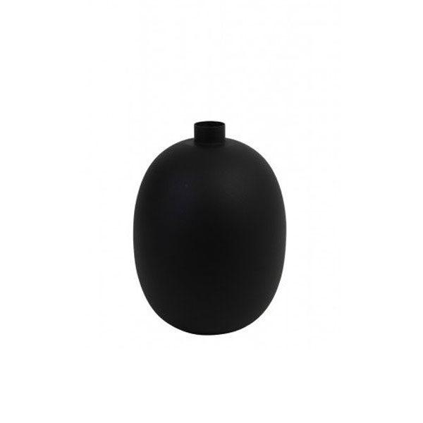 Vaas deco 23x23x30cm BINCO mat zwart