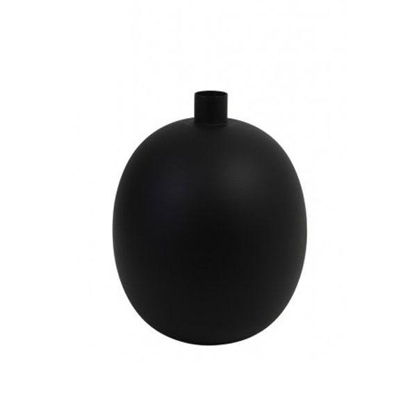 Vaas deco 26x26x34cm BINCO mat zwart