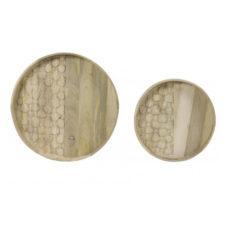 Dienblad set/2 CALVA hout - 60cm/45cm