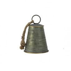 Ornament 11,5x11,5x17cm BELL zink-brons
