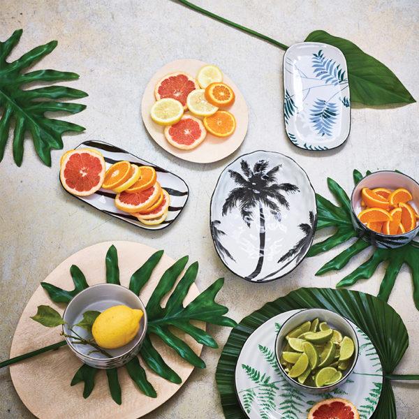 HK Living Jungle serveerschaal Palms