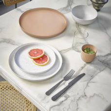 HK Living Bold&Basic ontbijtbord gespikkeld Wit