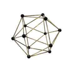 HK Living Molecular Brass ornament