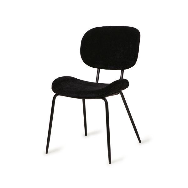 HK Living Dining chair - Rib black