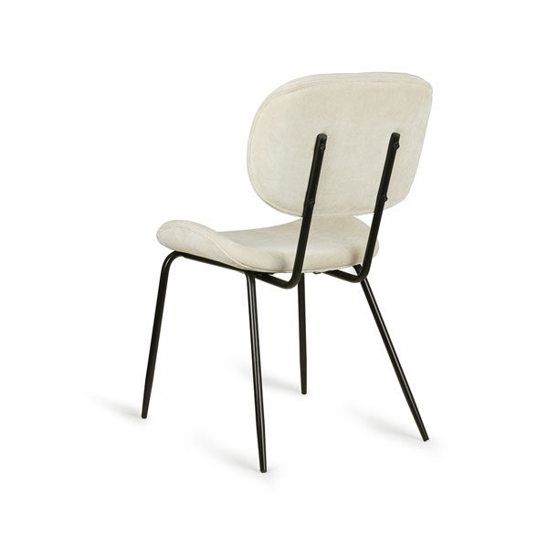 HK Living Dining chair - Rib creme