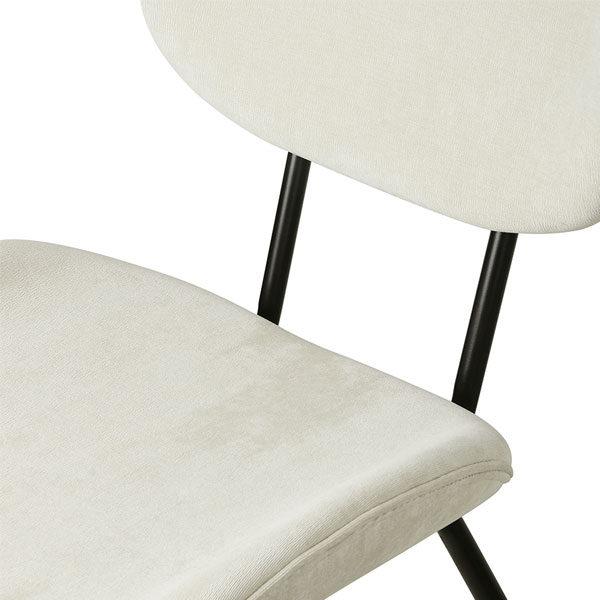 HK Living Dining chair - Rib creme