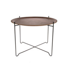 HK Living Sidetable L Walnut