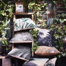 HK Living Sierkussen Palm Leaves 45x45cm