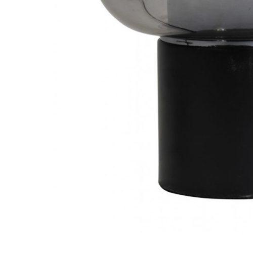 Tafellamp 29,5x46cm ARTURAN glas smoke grijs + mat zwart