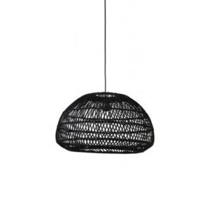 Hanglamp 50,5x30cm EVELIE Rotan Zwart