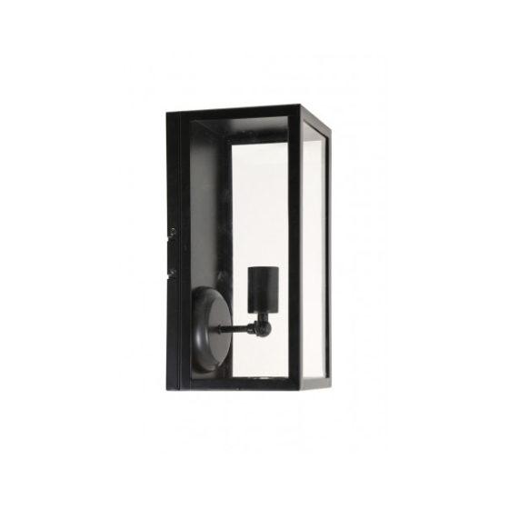 Wandlamp lantaarn 18x16x36,5cm CORDELIA zwart