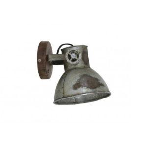 Wandlamp 20x18x19cm ELAY Hout bruin industrieel
