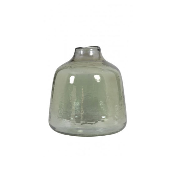 Vaas 20,5x23cm DEONI glas olijf groen