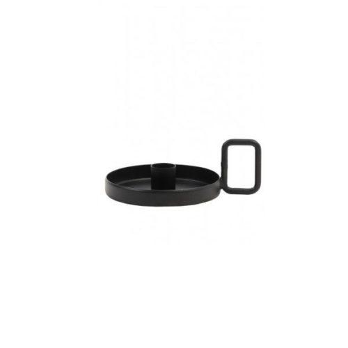 Kandelaar 15x15x5,5cm OEKATA mat zwart