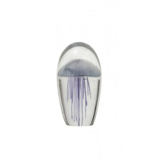 Ornament 9x9x16cm JELLYFISH glas paars