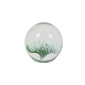 Ornament 10x10cm FLOWER glas groen