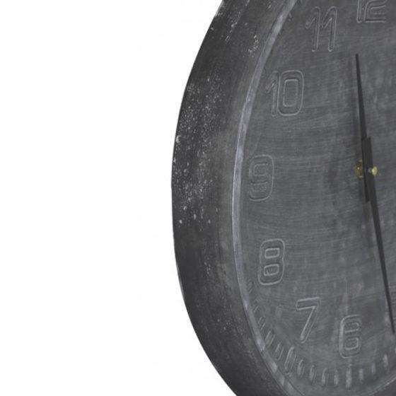 Klok 39x5cm RICARD grijs