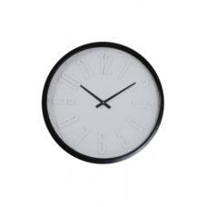 Klok 58x6,5cm RACEN wit zwart