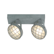 Plafondlamp 2-lichts Balk Lazaro - Grijs