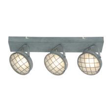 Plafondlamp 3-lichts Balk Lazaro - Grijs