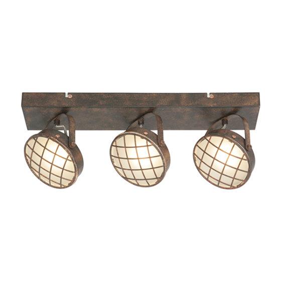 Plafondlamp 3-lichts Balk Lazaro - Roest