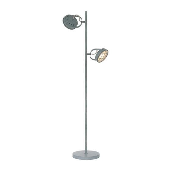 Vloerlamp 2-lichts Lazaro - Grijs