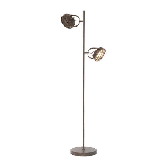 Vloerlamp 2-lichts Lazaro - Roest