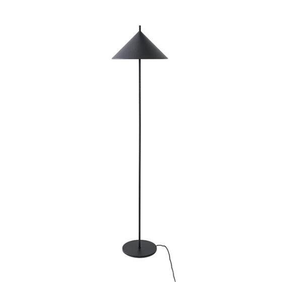 HK Living vloerlamp Triangle mat zwart