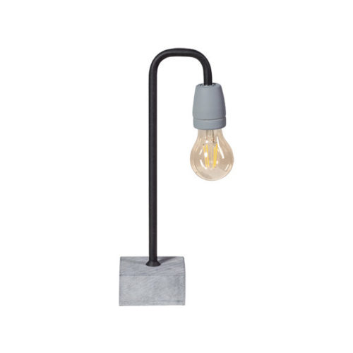 Tafellamp Concrete Bow - zwart/grijs