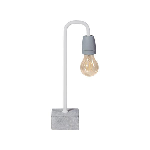Tafellamp Concrete Bow - wit/grijs