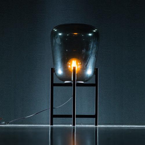 Tafellamp Benn Mini - Zwart gun metal met glas