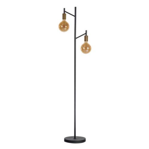Vloerlamp Tree 2-lichts - Zwart/Koper